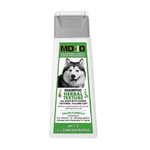 MD10 Herbal Texture Shampoo 300ml (1.2 Litre diluted) Malamute Samoyed Chow Chow Pomeranian Bearded Collie Terrier Coarse Coat Schnauzer German
